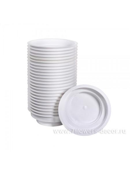 Чаша пластик Джуниор 3*12см цв Белый  Арт.4028
