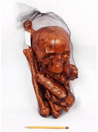 Кости скелета набор 10 деталей пластик окровавленный Хэллоуин HS-4-37