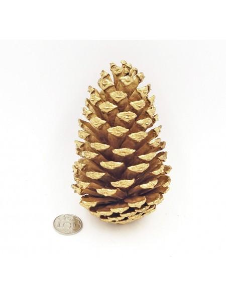 Шишка за 1 шт цвет золотой ( 5-12 см)  HS-20-5, HS-16-2