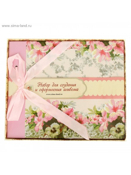 Набор для оформления фотоальбома Розовые розы 25,5х21 см