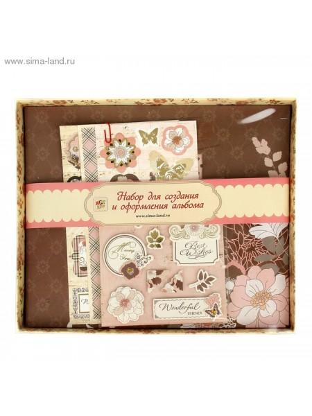 Набор для оформления фотоальбома Цветы 27,2х23,4 см