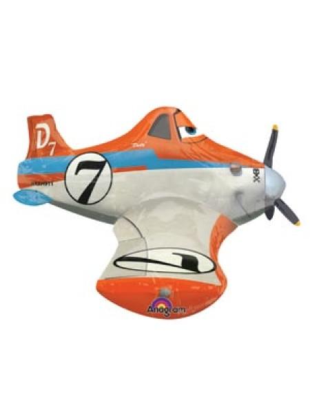 Фольга шар Самолеты Дасти фигура ходячая Р90 Anagram