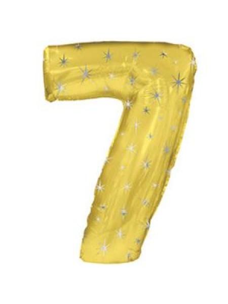 Фольга шар Цифра 7 Золото 42