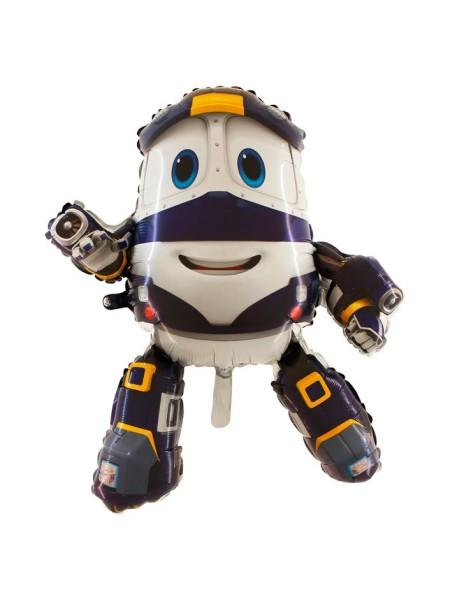Фольга шар Паровозик Robot Trains Кей Grabo Италия