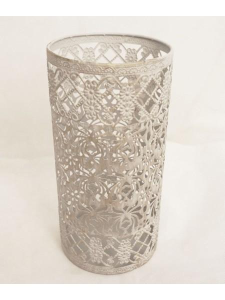 Подсвечник ажурный металл 12,5 х 25 см