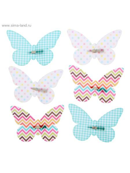 Набор декоративных бабочек Фантазия на заколках 16,5 х 11,5 см