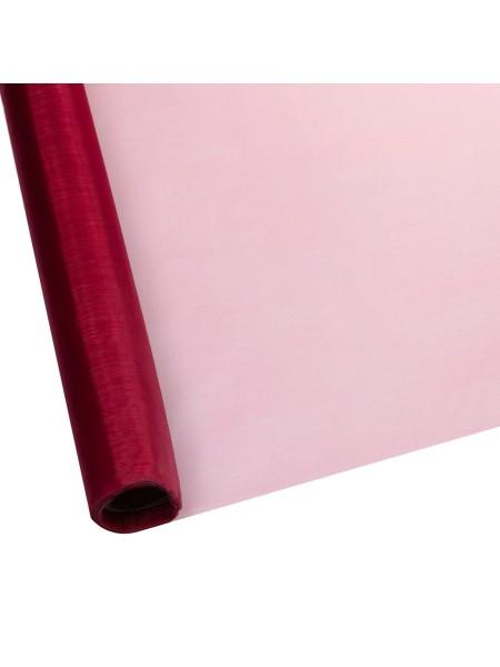 Органза 70 см х 9 м цвет малиновый Арт 1002