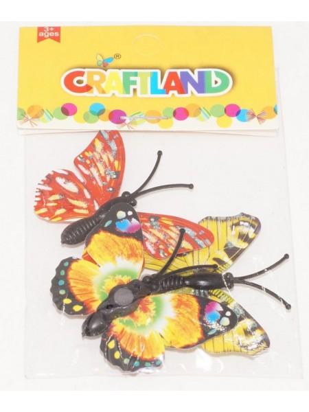 Бабочки на магните 4,5 х 3,5 см  3шт