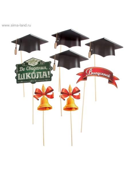 Фотобутафория До свидания школа выпускной набор 8 предметов 21,5 х30 см
