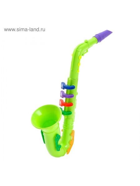 Игрушка музыкальная Саксофон цвета микс