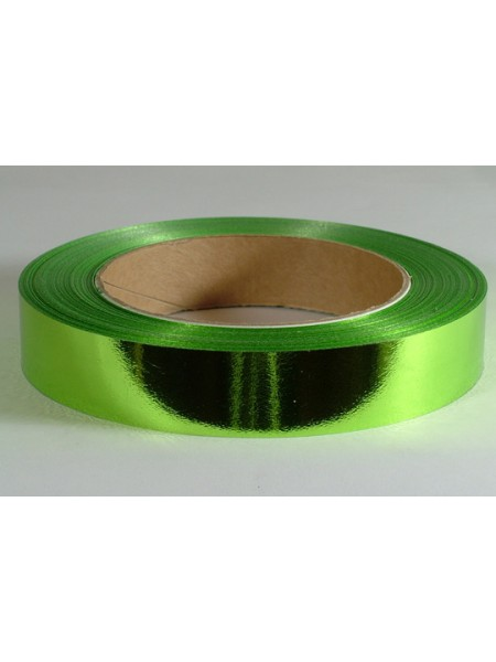 Лента 2 см х 50 м полипропил, металл, матовая 115001-2-33 цв Светло-зеленый