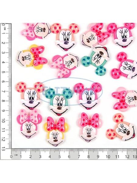 Mickey and Minnie Mause глянцевый пластик 20 шт