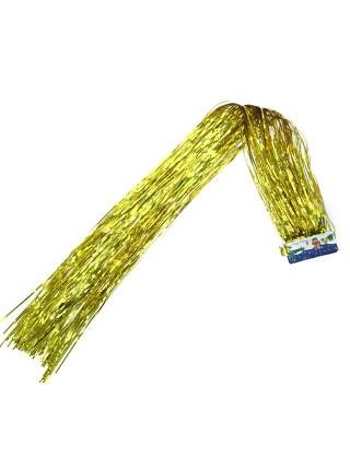 Дождик голография 1,5 м матовый цвет золотой HS-42-8