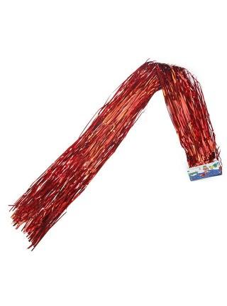 Дождик голография 1,5 м матовый цвет красный HS-42-8