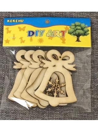 Заготовка фигурка дерево 5шт
