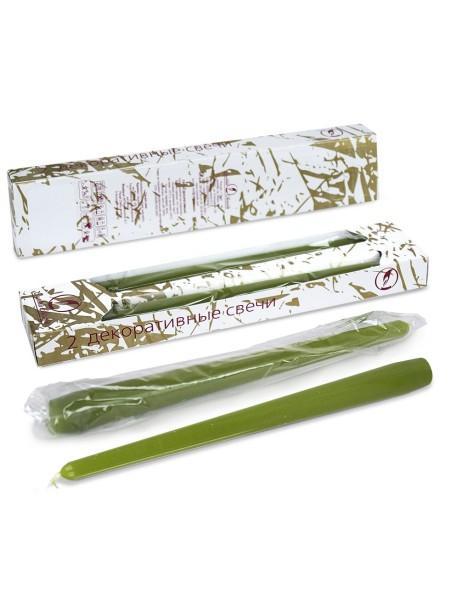 Свеча античная набор 2 шт цвет оливковый