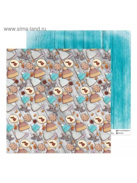 Бумага для скрапбукинга Фигурное печенье 30,5 х 30,5 см 180 гр/м