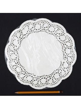 Салфетки ажурные d 25 см круглые белые набор 100 шт HS-38-14