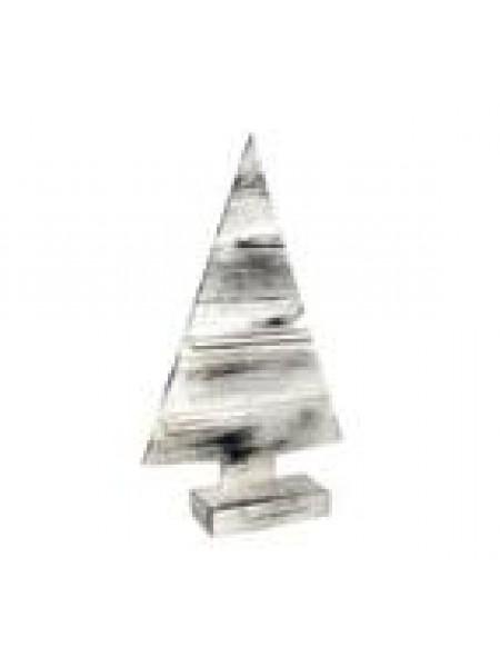 Ель декоративная дерево h 63 х 36 х 6 см белый-браш серый