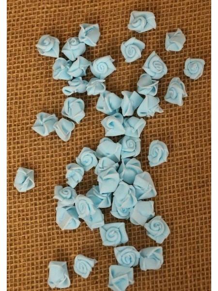 Роза 1,5 см фоамиран (90-100 шт в упаковке) светло-голубая
