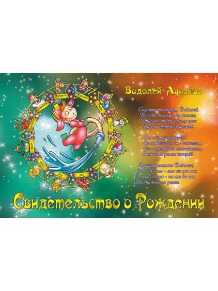 Свидетельство о рождении А5 Водолей 31.049