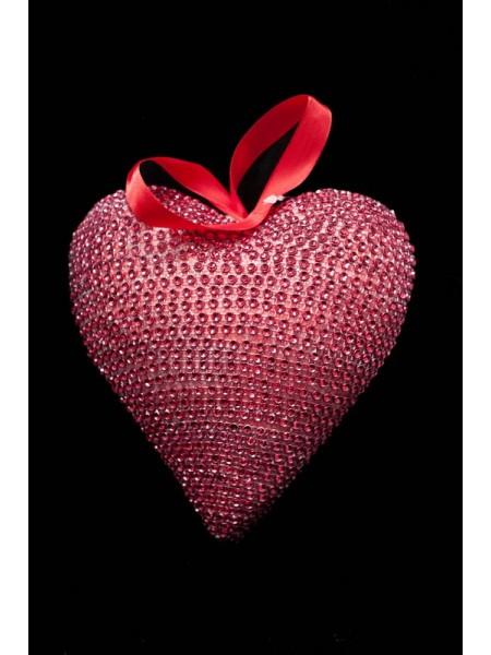 Сердце подвеска пластик 17,5*17*8см цв Красный