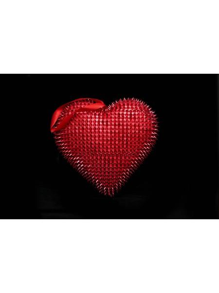 Сердце подвеска пластик 24*25,5*6см цв Красный