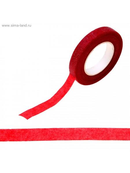 Тейп-лента 1,2 см х 27,3 м Красная намотка