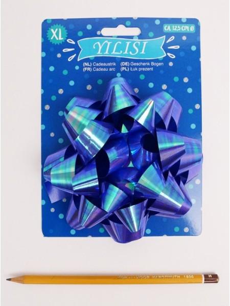 Бант Звездочка 12,5 см цвет синий