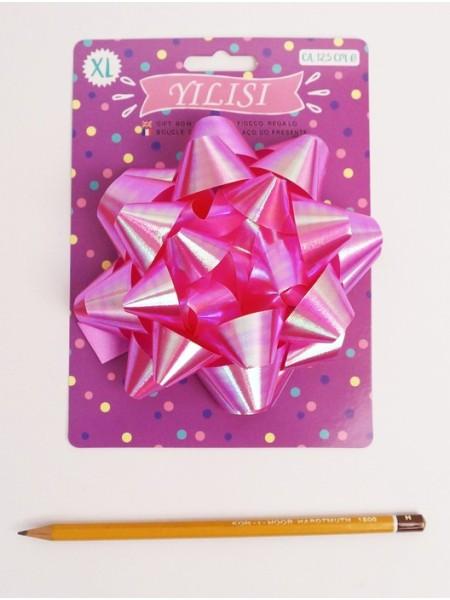 Бант Звездочка 12,5 см розовый