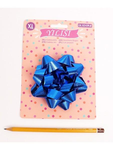 Бант Звездочка 10 см цвет синий