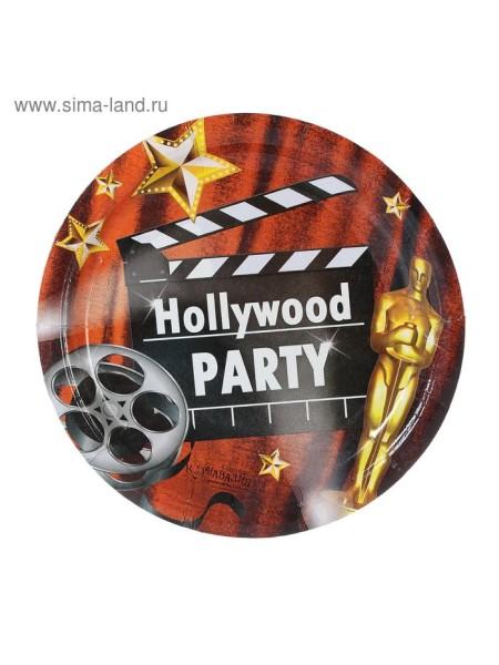 Тарелка бумага Голливудская вечеринка набор 10 шт 18 см
