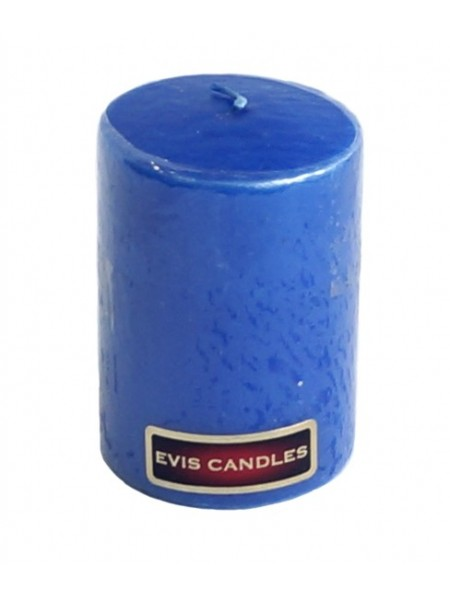 Свеча парафин цилиндр 50 Н-70 мм цвет синий