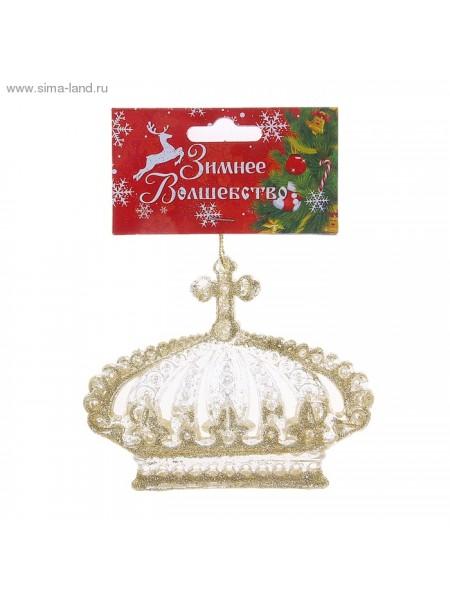 Декор Корона 8,2х10,3 см акрил цв золото
