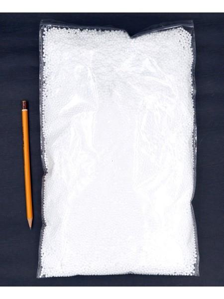 Наполнитель шарики пенопласт 4 мм цвет белый HS-29-2
