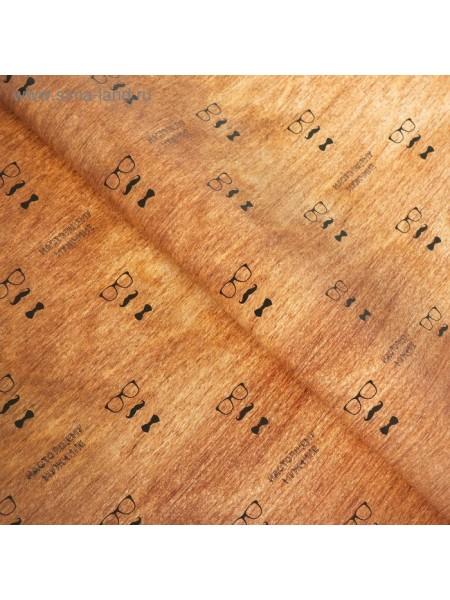 Бумага упаковочная Набор с надписями на дереве 49 х 70 см