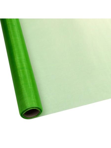 Органза 70 см х 9 м цвет зеленый  Арт 1014
