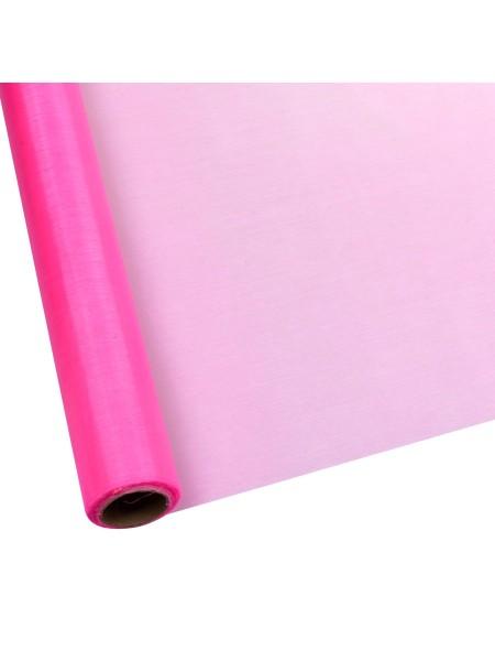 Органза 70 см х 9 м цвет розовый  Арт 1030