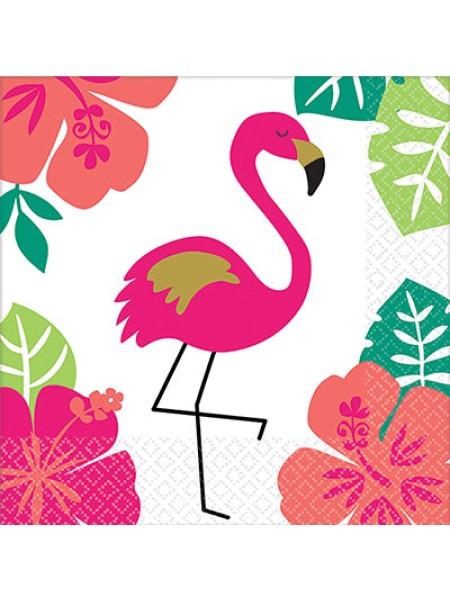 Салфетка ALOHA Фламинго 25 см набор 16 шт