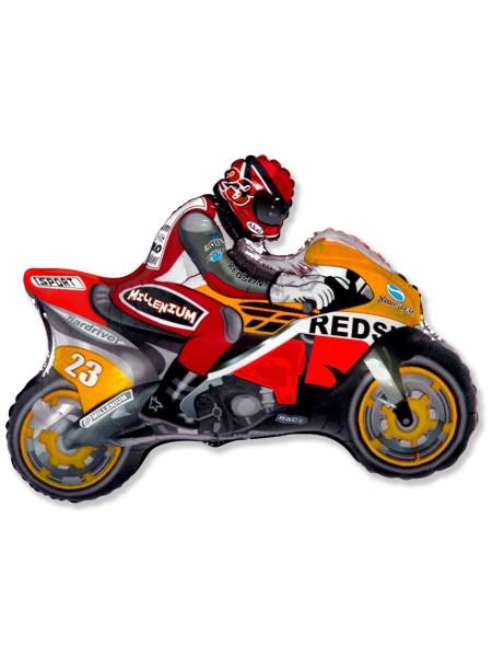 """Фольга шар Мотоцикл оранжевый 29""""/72,5 см 1шт Испания"""