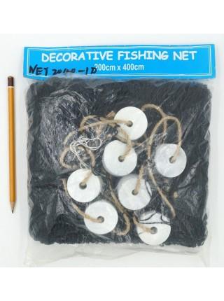 Сеть рыболовная 200 х 400 см цвет черный HS-44-7