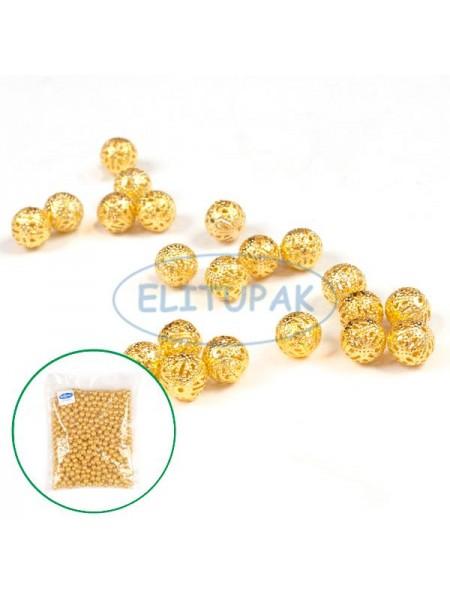 Декоративный шарик для бутоньерок золото 500 шт