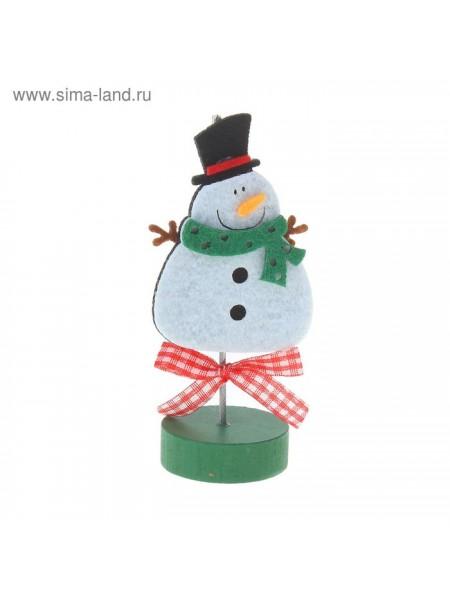 Визитница - прищепка Веселый снеговик