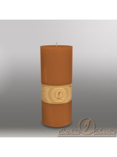 Свеча цилиндр d 100 h 255 мм цвет коричневый
