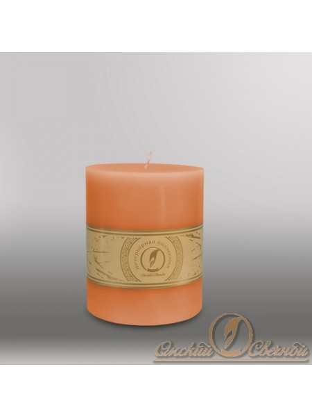 Свеча цилиндр d 100 h 255 мм цвет терракотовый