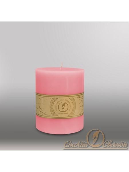 Свеча цилиндр d 100 h 255 мм цвет розовый