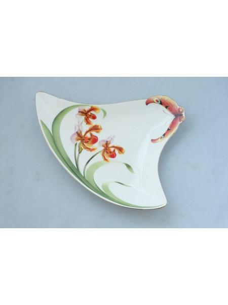 Тарелка сервировочная Орхидеи треугольник ALF 55-082