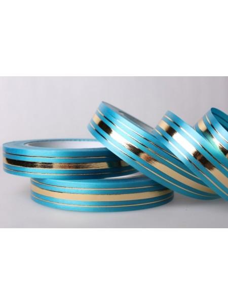 Лента с з/п 2 см х 50 ярд Широкая з/п (классика) L208 цвет голубой