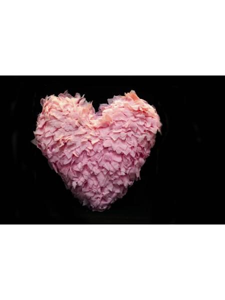 Сердце декоративное ткань 42см цв Розовый