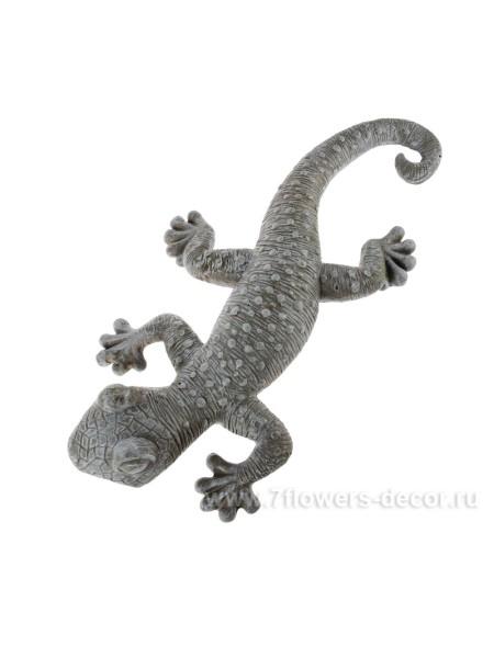 Ящерица фигура 55,5 х 27,5 х 9 см цвет Серый цемент  Арт.252550050